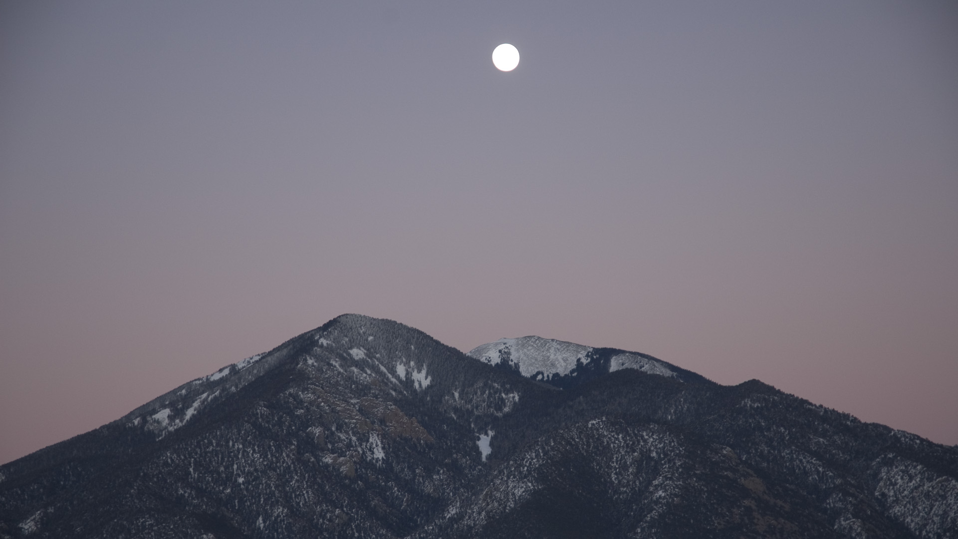 Taos Mountain Moon