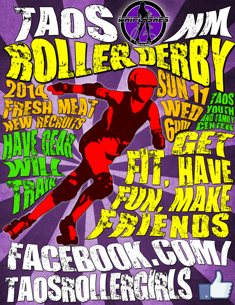 Taos Whiplashes 2014 Roller Derby Poster