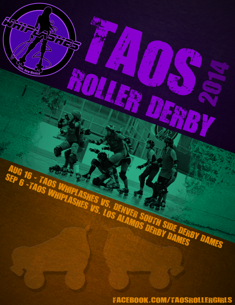 Taos Whiplashes Roller Derby Poster