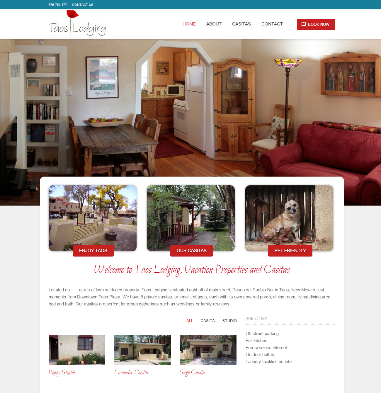 Taos Lodging Website