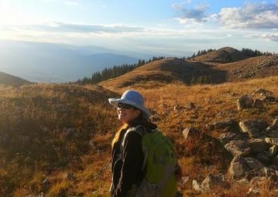 at the top of Lobo Peak