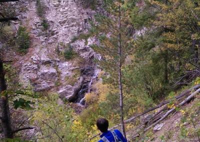 looking at Gavilan waterfall